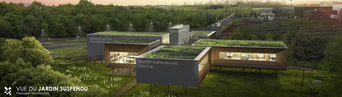 Pole environnemental Auxerre - jardin suspendu