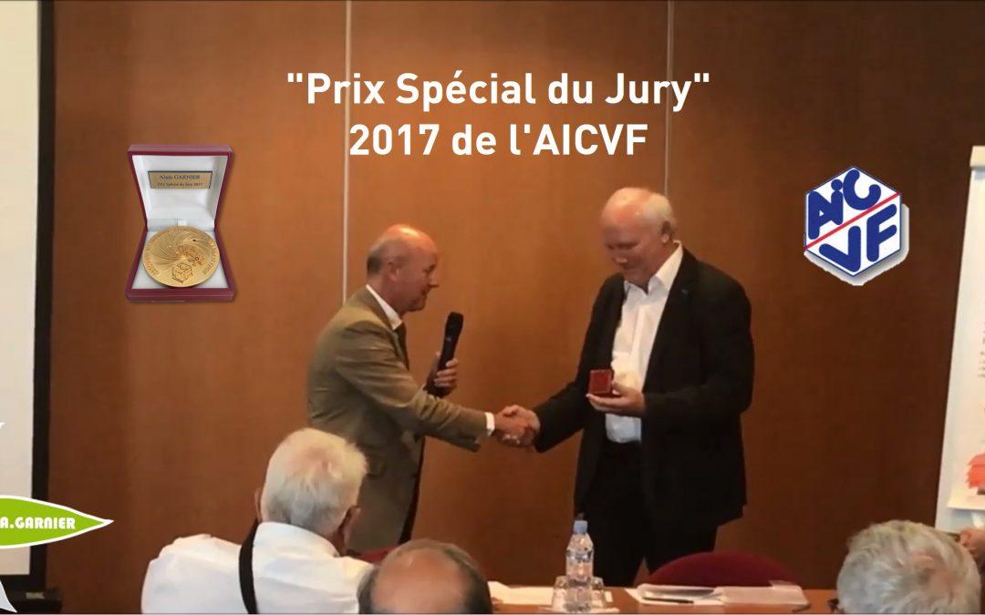Alain Garnier reçoit le Prix Spécial 2017 de l'AICVF