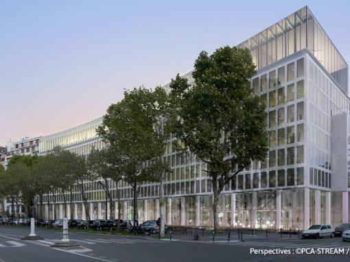 Bureaux de l'Amiral Bruix à Paris, format BIM