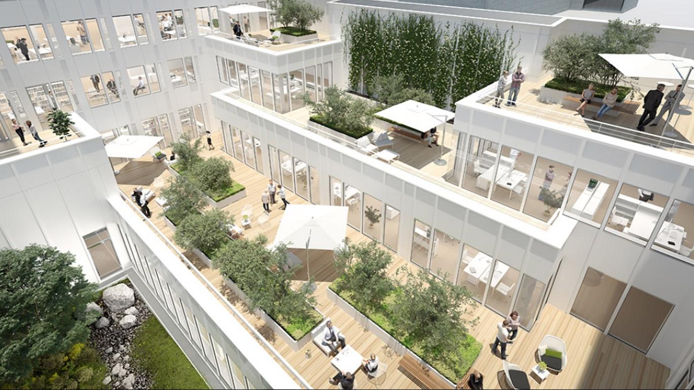 Les Bureaux Sense à Paris, Terrasses