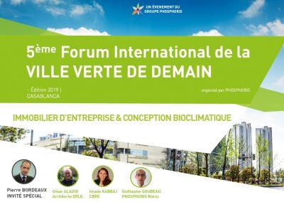 5ÈME FORUM INTERNATIONAL DE LA VILLE VERTE DE DEMAIN