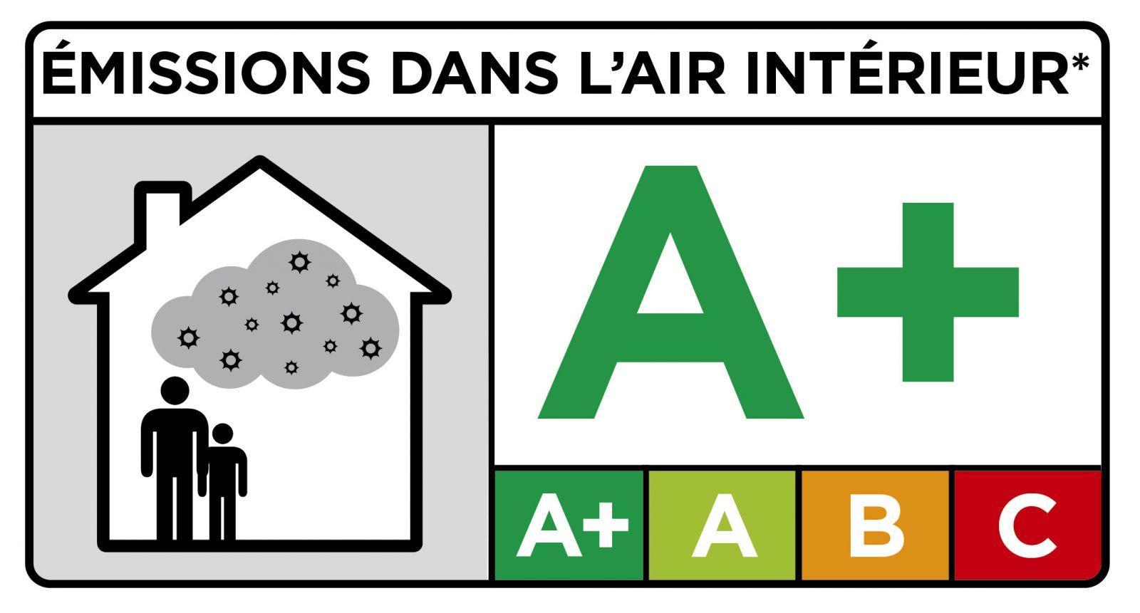 Étiquette Qualité de l'Air Intérieur