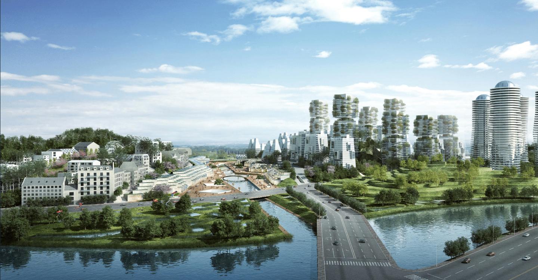 Écoquartier de TianFu New Area,, à Chengdu en Chine