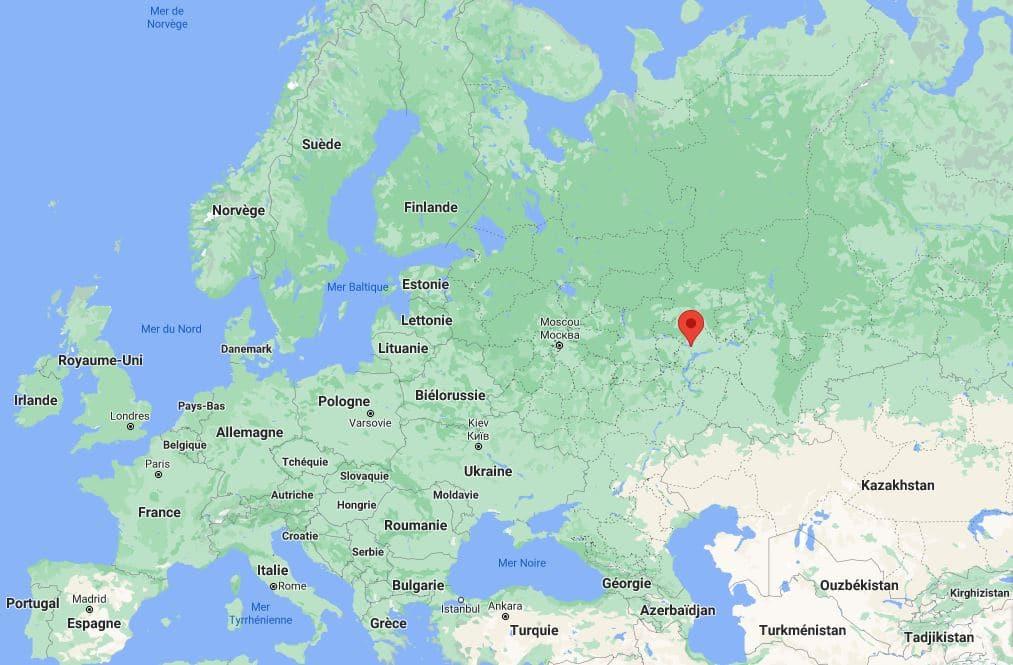 Emplacement de la ville de Kazan